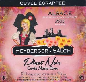 ETIQUETTE PINOT NOIR MARIE ROSE 001 - 2015